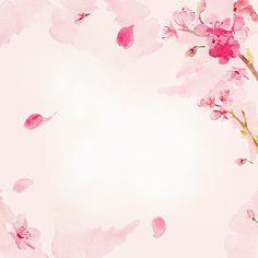 桜の花の背景水彩画 ベクターアートイラスト