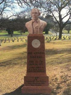 Jose Antonio Navarro ... Texas hero; and his recently erected Bronze Cenotaph in the Texas State Cemetery, Austin.