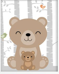 Woodland Theme, Woodland Nursery, Woodland Animals, Quilt Baby, Animal Nursery, Nursery Art, Baby Design, Cute Images, Cute Pictures