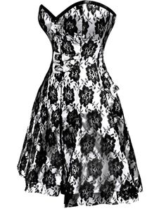 £85.00 US $120.69 Gothic Corset Dress | UK Corsets