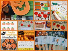 Pumpkin-themed Literacy Activities for #Preschool and #Kindergarten - great fall playful learning