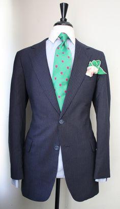 Rashon Carraway — 3 Piece Vintage Navy Pinstripe Suit