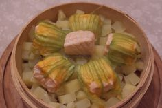 Salmone con Vaporiera di bambù