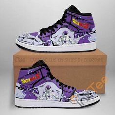 Air Jordan Sneakers, Jordans Sneakers, Air Jordans, High Top Sneakers, Custom Sneakers, Custom Shoes, Sneaker Boots, Dragon Ball Z, Real Leather