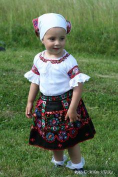 Podzámčok village, Podpoľanie region, Central Slovakia. Adorable Petite Fille, Folk Embroidery, Beautiful Costumes, Folk Costume, My Heritage, Beautiful Children, Folklore, Vintage Patterns, Traditional Outfits