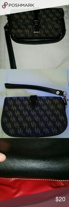 Dooney & Burke Wristlet (Accepting offers) Still New, used 1 time, very cute. Clean inside., non smoking  home. Dooney & Bourke Bags Clutches & Wristlets