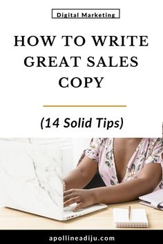 14 tips on how to write great sales copy that persuades your audience to take action + appeal to their emotions & motivate them to give you their money Content Marketing, Affiliate Marketing, Online Marketing, Social Media Marketing, Digital Marketing, Sales Letter, Marketing Program, Call To Action, Marketing Consultant