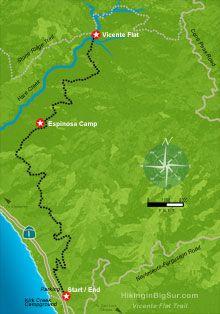 .:. Hiking in Big Sur - Vicente Flat Trail (Vincente) .:. California