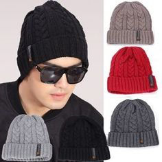 Buy korean men classic winter warm knit hat outdoor head cap sleeve beanies from newdress,enjoy discount shopping and fast delivery now. Korean Men, Crochet Shawl, Hats For Men, New Dress, Cap Sleeves, Knitted Hats, Winter Hats, Clothes For Women, Knitting
