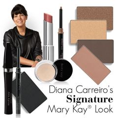 Meet Diana Carreiro, member of the Mary Kay Global Makeup Artist Team. With more than 25 years experience under her belt, Diana has had her work displayed in fashion and beauty magazines around the globe. Click through to learn more about Diana and her signature Mary Kay look! Beach blonde; honey spice; chocolate kiss; espresso; coal for liner/definer; sunny spice cheek; natural beaute lip with caramel liner.