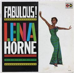 "Sam Suliman record album design, c.1960s. ""Fabulous! Lena Horne"" Baronet Records LP"