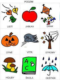 Pro Šíšu: Rocni obdobi - obrazky Autumn Activities For Kids, Book Activities, Owl Name Tags, Diy And Crafts, Doodles, Classroom, Kids Rugs, Games, Logos