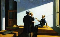Edward Hopper Conference at Night oil painting for sale; Select your favorite Edward Hopper Conference at Night painting on canvas or frame at discount price. Robert Rauschenberg, American Realism, American Artists, American Life, Edouard Hopper, Edward Hopper Paintings, Ashcan School, Social Realism, Pop Art