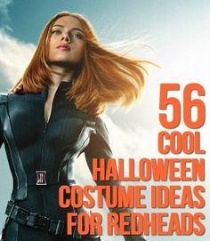 55 Cool Halloween Costume Ideas For Redheads - Scarlett Johansson is only one! Where has this been my whole life? Halloween Costumes Redhead, Red Hair Halloween Costumes, Red Hair Costume, Redhead Costume, Cute Halloween Costumes, Halloween Cosplay, Cool Costumes, Costume Ideas, Halloween 2017