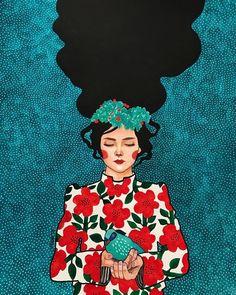 Please Go Slowly Canvas Artwork by Hülya Özdemir L'art Du Portrait, Portraits, Art Du Collage, Plakat Design, Art Et Illustration, Pencil Art Drawings, Drawing Sketches, Arte Pop, Beautiful Drawings