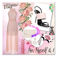 """""""Rose"""" by s-o-polyvore ❤ liked on Polyvore featuring Giuseppe Zanotti, Mansur Gavriel, Lime Crime and Fatboy"""
