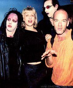 Twiggy Ramirez, Courtney Love, Marilyn Manson & Michael Stipe