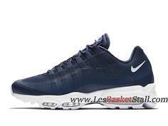 lowest price 27662 7da80 Nike Air Max 95 Ultra Essential Chaussures Officiel Basket Pas Cher Pour  Homme Bleu Blanc 857910 401
