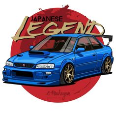 Subaru Impreza 2.5 RS. T-shirts, covers, stickers, posters - already available in my store on #redbubble. Link in profile. You can also… Subaru Impreza Sti, Subaru Forester, Subaru Rs, Colin Mcrae, 5 Rs, Japanese Domestic Market, Car Illustration, Japan Cars, Car Drawings
