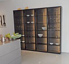 Luxury Kitchen Design, Kitchen Room Design, Home Room Design, Kitchen Cabinet Design, Luxury Kitchens, Home Decor Kitchen, Interior Design Kitchen, Glass Kitchen Cabinets, Glass Cabinet Doors