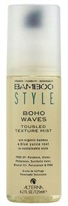 this is the best spray for the beachy texture, it's light and doesn't make your hair feel yucky.......Alterna Bamboo Style Boho Waves Tousled Texture Mist - 4.2 oz