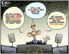 Christopher Weyant - The Hill - Congressional Dictators COLOR - English - Iran, dictator, detente, diplomacy, UN, Obama, government shutdown, Congress, Republicans, GOP, Ted Cruz