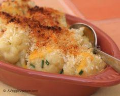 One-Skillet Cauliflower with Cheese Sauce recipe © A Veggie Venture
