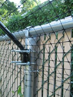 purrfect fence + chain link fence (U-Bolts for Round Posts) (Set of 2)