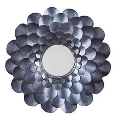 Signature Design Deunoro Accent Mirror - Ashley Furniture to the metal. Wowing in a multifaceted blue that's completely unexpected, the Deunoro accent mirror stands out from the crowd in such a beautiful way. Glass Center, Standing Mirror, Blue Mirrors, Cheap Mirrors, Wall Mirrors, Round Wall Mirror, Mirror Mirror, Metal Flowers, Blue Accents