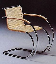 Mies Van Der Rohe Rattan Chair MR20 Arm - italydesign.com