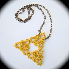 Tatted Pendant Necklace  INSPIRATION
