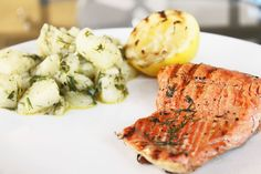 Two Recipes: Grilled Salmon with Dill and Warm Potato Salad