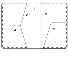PDF pattern leathercraft passport wallet by LeatherPatternCraft More