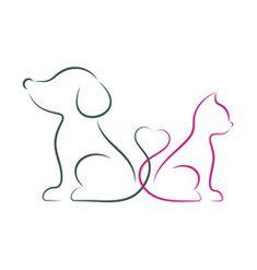 Minimalist line art dog ideas