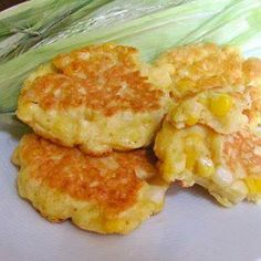Sweet Corn Fritters..Very easy and taste just like my Mom use to make :).. I just fried mine in butter instead of adding olive oil as recipe stated. I am sure it taste great both ways...