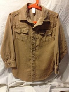 L Boys Janie and Jack Button Up Corduroy Shirt Size 5 Toddler   eBay
