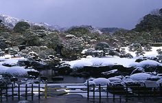 Adachi Museum in the snow.