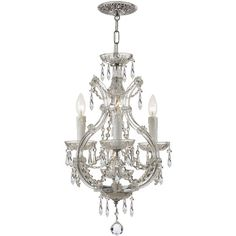 Swarovski Crystorama Maria Theresa Four-Light Elements Crystal Chrome... (1,382 CAD) ❤ liked on Polyvore featuring home, lighting, ceiling lights, silver, mini lights, crystal ceiling lights, 4-light, hanging chain lamp and chrome crystal chandelier
