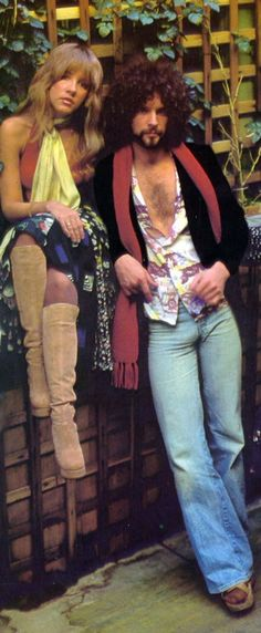 Fleetwood Mac: Stevie Nicks and Lindsey Buckingham. Stevie's boots