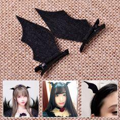 Devil Wings Bat Wings Hair Clip Cosplay Halloween Dress-Up Costume Accessory