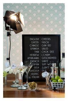 You are In Good Company: GOOD PLAN - Art Deco Wedding Cocktail Bar