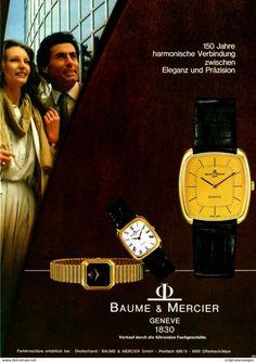 Original-Werbung/ Anzeige 1980 - UHREN / BAUME & MERCIER - GENEVE - Ca. 200 X 240 Mm - Werbung