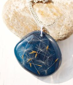 Dandelion - Real Flower Jewelry, Pressed Flower, Botanical Necklace, Resin jewelry