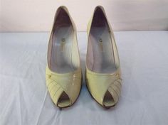 Vintage GUCCI Womens 40.5B Heels Italy AUTHENTIC #Gucci #PeepToeHeels