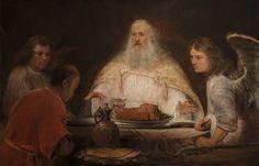 Aert de Gelder (1645–1727) Abraham en de engelen (1680 - 1685, Museum Boijmans Van Beuningen, Rotterdam)