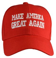 A personal favorite from my Etsy shop https://www.etsy.com/listing/258783509/make-american-great-again-baseball-hat