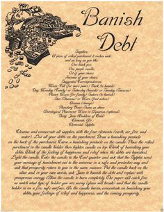 banish debt spell