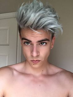 Greenish Grey Color Hair Trend 2016