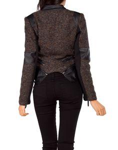 tweed motorcycle jacket.