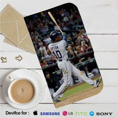 Justin Upton San Diego Padres Leather Wallet iPhone 4/4S 5S/C 6/6S Plus 7…